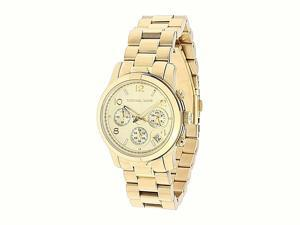 6b784e3b44d0 NWT Michael Kors Womens Watch Gold SS Bracelet Chrono Midsize RUNWAY ...