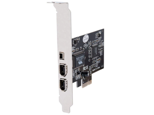 ZHIJIADA hot-Firewire Card,PCIe Firewire 800 Adapter for Windows 10 with Low Profile Bracket and Cable,3 Ports (2x6 Pin 1x4 Pin) IEEE 1