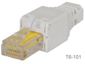 Toolless CAT6 RJ45 Modular Plug, no need for a crimping tool, Intellinet 790482