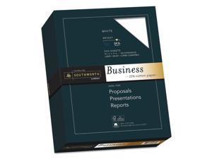 Southworth 25% Cotton Business Paper White 24 lbs. Wove 8-1/2 x 11 500/Box FSC
