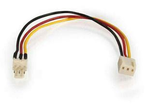 7 Inches Multicolor C2G 27392 3-Pin Fan Power Extension Cable for CPU and Case Fans