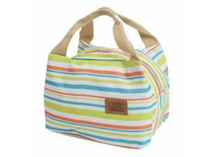 Picnic Camping Lunch Canvas Thermal Insulated Cooler Tote Storage Bag Pouch