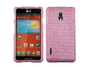 For LG Optimus F7 US780 Crystal Diamond BLING Hard Case Snap on Phone Cover Pink