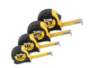 Titan Tools 10902 4-Piece Tape Measure Set (12, 16, 25 and 33) standart