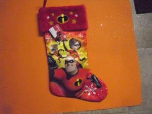 "New ! Christmas Holiday Stocking Disney Incredibles 2  Stocking   20"" Long"