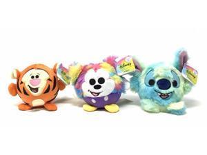 (3) Disney Squeeze Me Series Toys, Rainbow Mickey, Tye-Dye Stitch, Tigger, NEW!