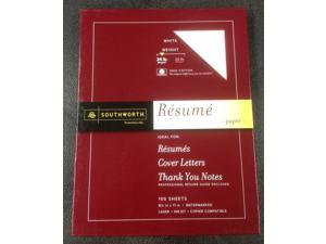 Southworth Fine Resume Paper 24 Pound 100% cotton 100 sheets Watermarked