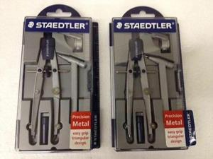 Staedtler Precision Metal Compass 4 Piece Set with Case 2 Count Model 55002