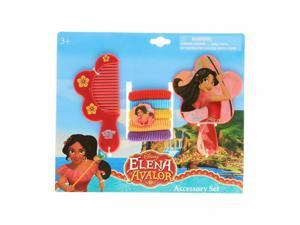 Disney Elena of Avalor 7pc Hair Accessories Set With Comb Mirror Hair Ponies