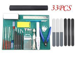 Professional 33 PCS Gundam Model Tools Kit Modeler Basic Tools Craft Set Hobby
