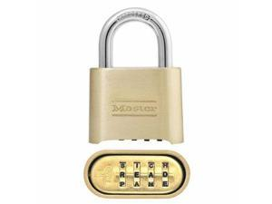 """Master Lock 175DWD 2"""" Solid Body Set Your Own WORD Combination Padlock - 4 Pack"""
