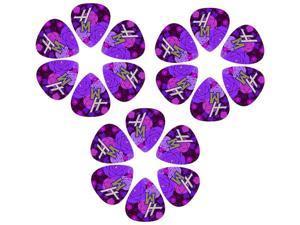 Disney Hannah Montana Guitar Picks- 6 Tear-drop shaped picks, HMPIK6 ^3
