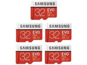 5 x Samsung EVO Plus 32GB MicroSD SDHC Class 10 95MB/s Micro SD Card MB-MC32GA