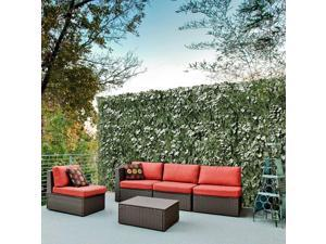 """59x196"""" Faux Ivy Leaf Artificial Hedge Fencing Privacy Fence Screen Decorative"""