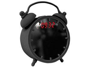 Zunammy Nostalgia Alarm Clock with built-in Bluetooth Speaker and Mirror, Black