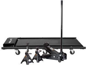 Pro-Lift 3 Ton Heavy Duty Floor Jack/Jack Stands and Creeper Combo