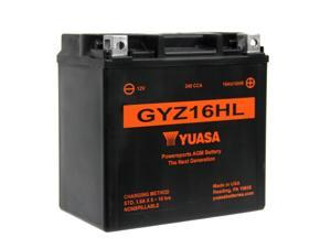Yuasa Factory Activated Maintenance Free (AGM) Batteries GYZ16HL