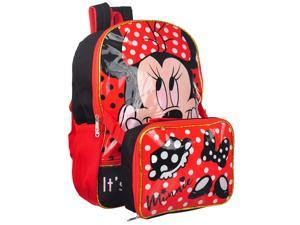 Disney Minnie Mouse Backpack With Detachable Lunch Kit, 16x12 Inches
