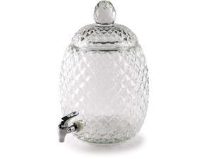 Circleware Aberdeen Pineapple Shaped Beverage Dispenser, Clear, 2.1 Gallons