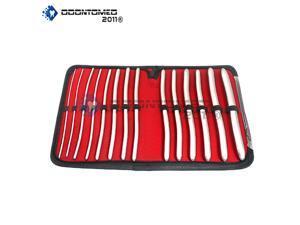 OdontoMed2011® Hegar 14 Pieces Urethral Sounds Kit, Surgical Steel Urethral Dilator Set, Hegar Sound Kit ODM