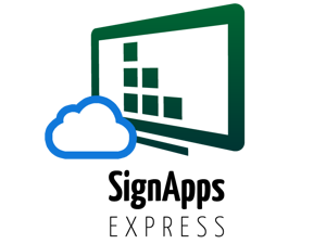 SignApps Express cloud update 1 year license. SignApps Express is the easiest digital signage software to manage local networked devices. This license extends its manageability over Internet.