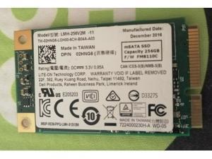 Lite-On 256gb mSATA Mini PCIe SSD Internal Solid State Drive SSD LMH-256V2M-11 Dell PN 02HNG6 FM8110C