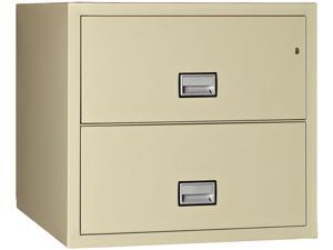 Phoenix Lateral 31 inch 2-Drawer Fireproof File Cabinet - Putty