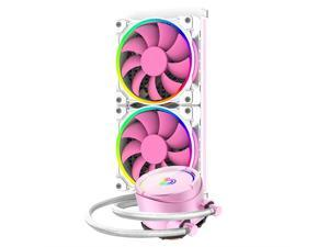 Fans & PC Cooling ID-COOLING PINKFLOW 240 CPU Water Cooler 5V Addressable RGB AIO Cooler 240mm CPU Liquid Cooler 2X120mm RGB Fan, Intel 115X/2066, AMD TR4/AM4 (Remote Controller is Included)