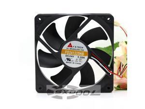 New original FD241225HB 12025 12CM DC 24V 0.28A Dual Ball server inverter cooling fan 2600RPM 106.1CFM