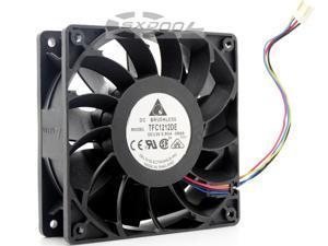 Delta 120mm 12cm PWM Fan TFC1212DE 252CFM vs PFB1212UHE, Most Powerful Server/CaseFan