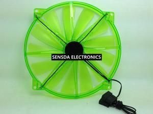 20cm 200mm chassis cooling fan led 20020 chassis fan 20cm fan led Red Green mute pc fan computer fan led fan 200X20 mm molex 4D