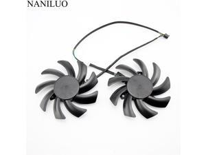 2PCS/lot 85MM FDC10H12S9-C 4Pin Cooling Fan Replacement  XFX RX 470 470D 480 460 RX480 RX380X R9 270A Graphics Card Cooling