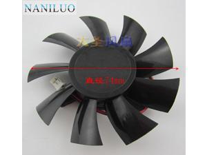 card fan 6770 Graphics card fan FS1280-A1842C 12V 0.28A 2 Line Fan Diameter 74mm