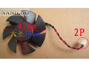 Diameter 47mm DF0501012SEE2C 0.05A 2pin Computer Vedio Card VGA Cooler Fan  sapphire HD6450 Graphics card cooling
