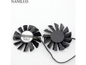 2pcs/lot 74MM PLD08010S12HH cooler Fan  MSI Twin Frozr III R6790 570GTX R6850 N460GTX R7950 R7850 HD 7870 7950 7870 6870Fan