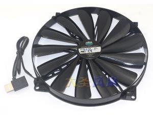 New cooler master 5V  USB socket cooling fan A20020-07CA-2JN-F1 200mm Silent Fan for Computer Cases (Black)