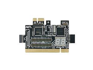 Multifunction LPC-DEBUG Card PCI PCI-E LPC Motherboard Diagnostic Test LPC-Debug Post card diagnostic test kit Z09 TL460s plus (Black)
