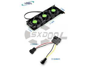 NEW original 3-fans/set ADDA AD0912UX-A7BGL DC 12V 0.50A VGA Graphics card cooling companion PCI fan