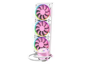 Water Cooler PINKFLOW 360 CPU  5V Addressable RGB AIO Cooler 360mm CPU Liquid Cooler 3X120mm, pink phantom color ARGB light effect all-in-one, Intel 115X/2066 , AMD TR4/AM4