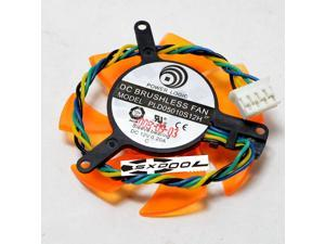 For 8500GT 8600GT 9400GT 9500GT GT210 graphics card fan PLD05010S12H 12V 47mm 4-wire 4-pin