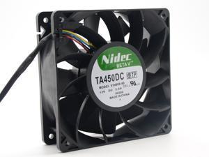 Nidec VA450DC V34809-90 CQ1 Super strong 12038 12V 3.3A 12CM 120mm axial server inverter cpu computer cooling fans