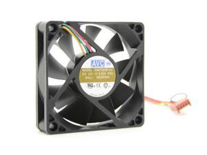 DA07520B12U double ball 7520 fan PWM intelligent speed control CPU fan 7.5CM