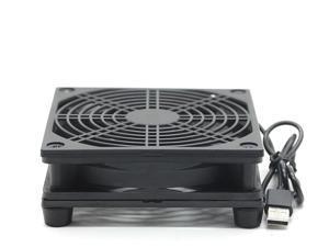 NEW Router Cooling Fan DIY PC Cooler TV Box Wireless Silent Quiet DC 5V USB power 120mm fan 120x25mm 12CM W/Screws Protective net 1200RPM