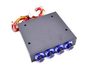 """NEW STW-6002 3.5"""" PC CPU HDD 4 Channel Speed Fan Controller with Blue LED GDT Controller and CPU HDD VGA"""