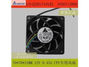 Delta fan AFB0712HHB 7 CM 70*70*15 MM 7015 12 V 4 DE PWM control de velocidad