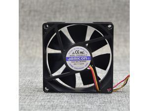Original JAMICON 8CM 8025 24V 0.21A Fan JF0825B2UA-R 3 Line Double Roll