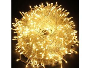 Decorative Christmas Twinkle LED Lights 100LED 35ft Color Changing Modes Fairy String Light for Outdoor, Indoor Decor, Garden, Wedding, Party + Controller[White wire][Warm White]