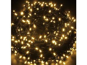 Decorative Christmas Twinkle LED Lights 80LED 35ft Color Changing Modes Fairy String Light for Outdoor, Indoor Decor, Garden, Wedding, Party + Controller[Black wire][Warm White]