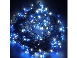 Decorative Christmas Twinkle LED Lights 80LED 35ft Color Changing Modes Fairy String Light for Outdoor, Indoor Decor, Garden, Wedding, Party + Controller[Black wire][Blue]