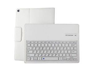 """Ultra Slim Removable Plastic Bluetooth Keyboard Magnetic Wireless Detachable Synthetic Leather PU Lichee Pattern Folio Case Cover Shell Stand for iPad Pro12.9"""" White"""